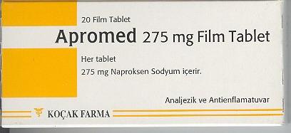 İlaç Fotoğrafı: Apromed 275 Mg 20 Tablet